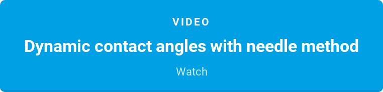 Video  Dynamic contact angles with needle method  Watch